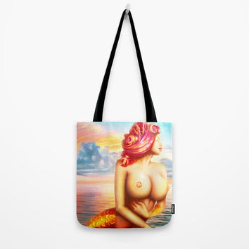 Mermaid's Paradise Tote Bag by exobiology