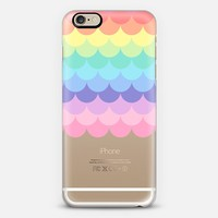 Pastel Rainbow Scales Transparent iPhone 6 case by Organic Saturation | Casetify