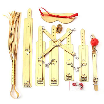 On Sale Hot Deal Hot Sale Leather Set Gold Sex Toy [6628169411]