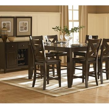 Homelegance Crown Point 6 Piece Counter Height Dining Room Set