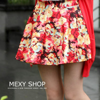 Spring Floral Silky Skirt - Mexy  - New fashion clothing & accessories for smaller size women like you - Mexy Shop
