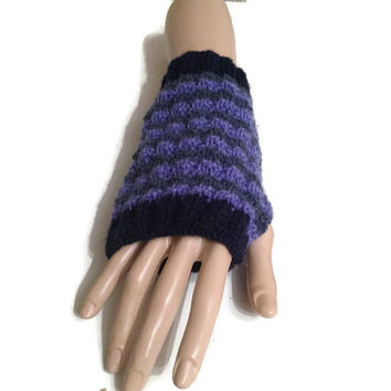 KNITTING PATTERN Fingerless Gloves / Mitts, Wrist Warmers, Women's Gloves, Instant Download PDF, Easy Knit Pattern