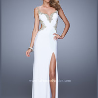 Sweetheart Floor Length With Slit La Femme Prom Dress 20965