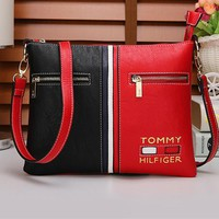 """Tommy Hilfiger"" Women Casual Personality Fashion Multicolor Single Shoulder Messenger Bag"