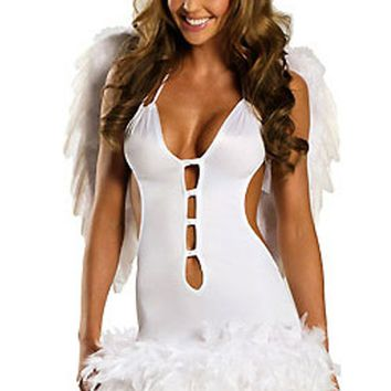 Atomic White Flirty Angel Costume