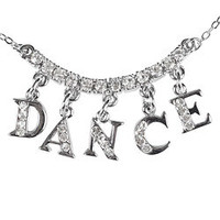"Rhinestone ""DANCE"" Charm Necklace - Style Number: 2736A"