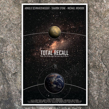 Total Recall: Science Fiction Cult Movie Poster - 11x17 Vintage Art Print