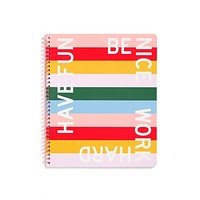 Have Fun Be Nice Rough Draft Large Notebook