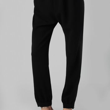 Nili Lotan Drawstring Pants in Black