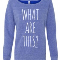 What Are This? Girl's Sweatshirt (Blue Tri-Blend)