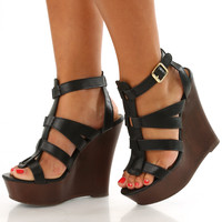 The Chosen Ones Wedges: Black