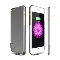2000mAh Portable External Power Bank Battery Charger Case Cover For iPhone 6 plus 6s plus Ultra thin Phone Power Bank Case 5.5""