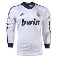 Real Madrid 12/13 LS Home Soccer Jersey - WorldSoccerShop.com
