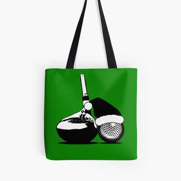 'Christmas Golf' Tote Bag by Gravityx9