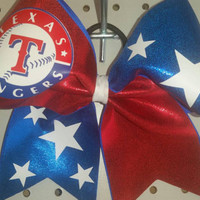 Baseball cheer bow style