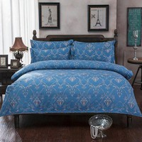 PEAP78W bedding set luxury,Include Duvet Cover Bed sheet Pillowcase,