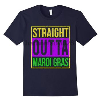 Straight Outta Mardi Gras T-Shirts - Men's Crew Neck Top Tees