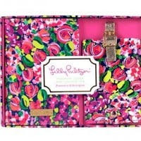 Lilly Pulitzer Wild Confetti Passport Cover and Luggage Tag Set