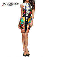 KaigeNina New Fashion Hot Sale Women Dress Prom Cocktail Party Bodycon Dress Desigual 2161