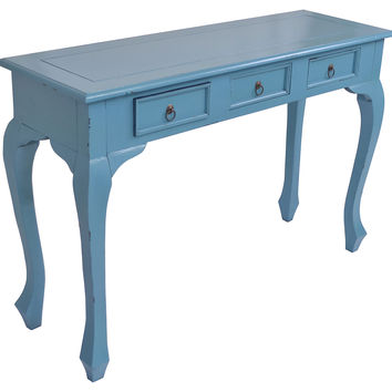 Console Erica  Table, Blue, Console Table