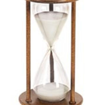 Metal/Glass 60 Minutes Hourglass 13 Inches High