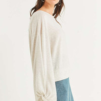 Truly Madly Deeply Twist-Sleeve Tee | Urban Outfitters