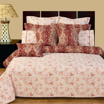 12PC Hampton reversible Combed cotton 400Tc Bed in a Bag