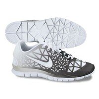 Nike Women's Free Tr Fit 3 Dye White/Black/Strata Grey/Black Training Shoe 9 Women US