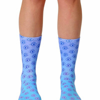 Eyes Crew Socks