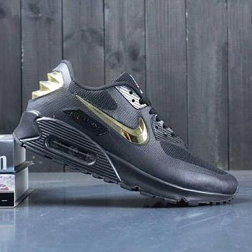 Nike Air Max 90 Men Sneakers Running Sports Shoes Black I-A0-YFY