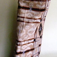 mens sarong sarung brown and white check 11B