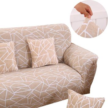 Geometric full sofa covers/couch cover 1-4 seat sofa cover spandex elastic couch case slipcover modern sofa cover for home decor