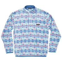 Youth Dorado Fleece Pullover in Teal and Pink by Southern Marsh