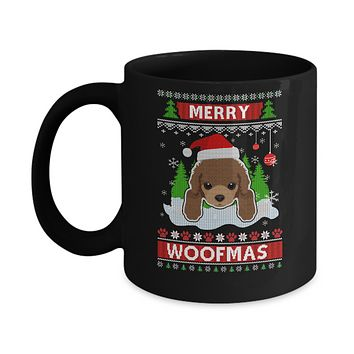 Poodle Merry Woofmas Ugly Christmas Sweater Mug