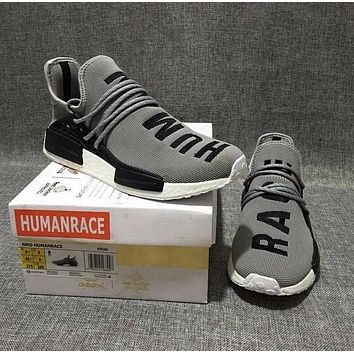 Sale Pharrell Williams x Adidas Consortium NMD Human Race Grey Sport Running Shoes Classic Casual Shoes Sneakers-1