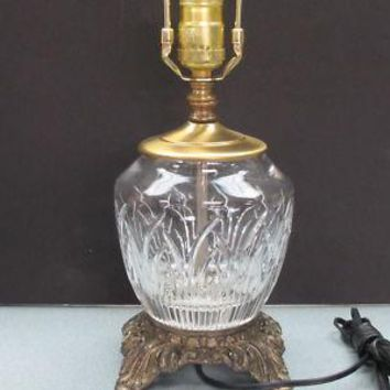 Cut glass lamp lenox crystal, Saratoga  made in USA