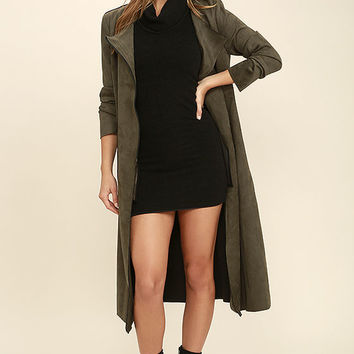 Foxiedox Cutting Edge Olive Green Suede Jacket