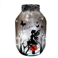 Hand painted Fairy Lantern / candle holder / night light....MADE TO ORDER.