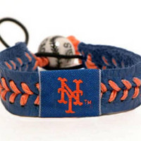 Gamewear MLB Leather Wrist Band - Mets Team Colors