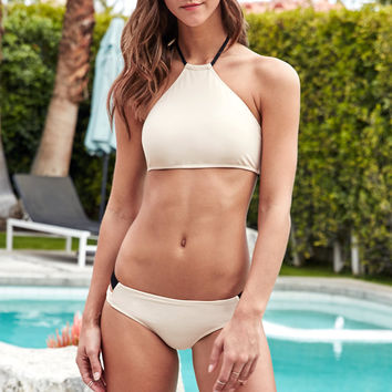 Kendall and Kylie High Neck Strappy Cropped Bikini Top at PacSun.com