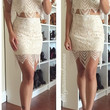 Oh Hey Babe Lace Skirt Set - nude/white