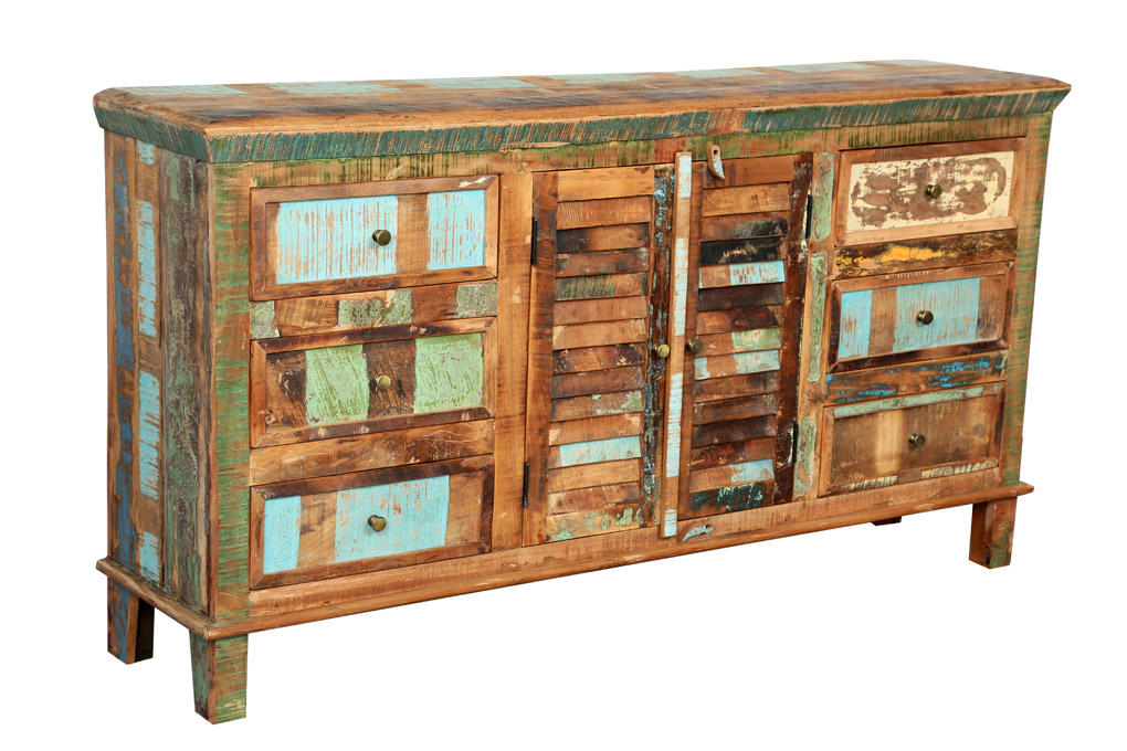 Reclaimed Indian Colorful Sideboard 6 from Wanderloot