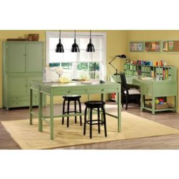 Martha Stewart Living Rhododendron Leaf Craft Space Table 0463410600 At The Home Depot