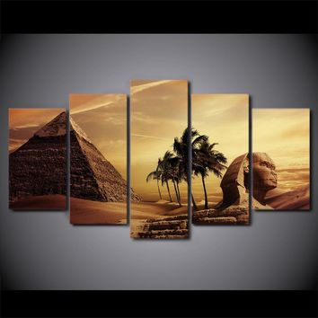 Egyptian Pyramids 5-Piece Wall Art Canvas