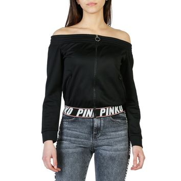 Pinko Zip Up Off Shoulder Logo Jacket