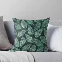 'Colorful leaves IV' Throw Pillow by Amir Faysal