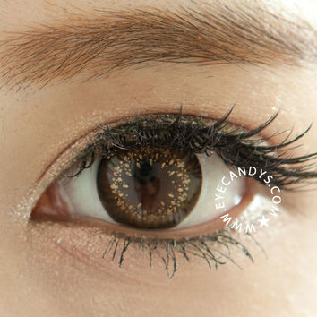 GEO Mari Gold Brown Circle Lens Novelty Colored Contacts Cosmetic Lenses | EyeCandy's
