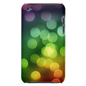 Rainbow Colors Bokeh Balls iPod Touch Case