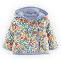 Infant Girl's Mini Boden Quilted Reversible Cotton Jersey Jacket,