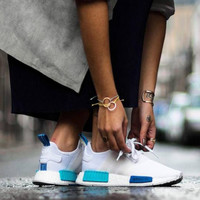 "Women ""Adidas"" NMD Boost Fashion Trending White Leisure Running Sports Shoes"